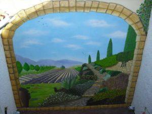 fresque murale extérieure réalisée à Carcassonne
