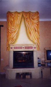 fresque murale sur cheminée