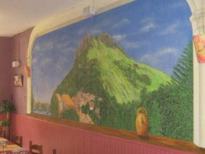 fresque murale intérieure dans l'Ariège