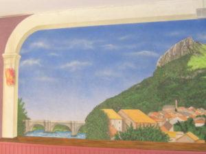 fresque murale dans un l'Ariège